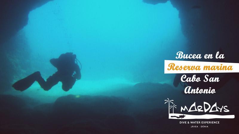 buceo reserva marina cabo san antonio