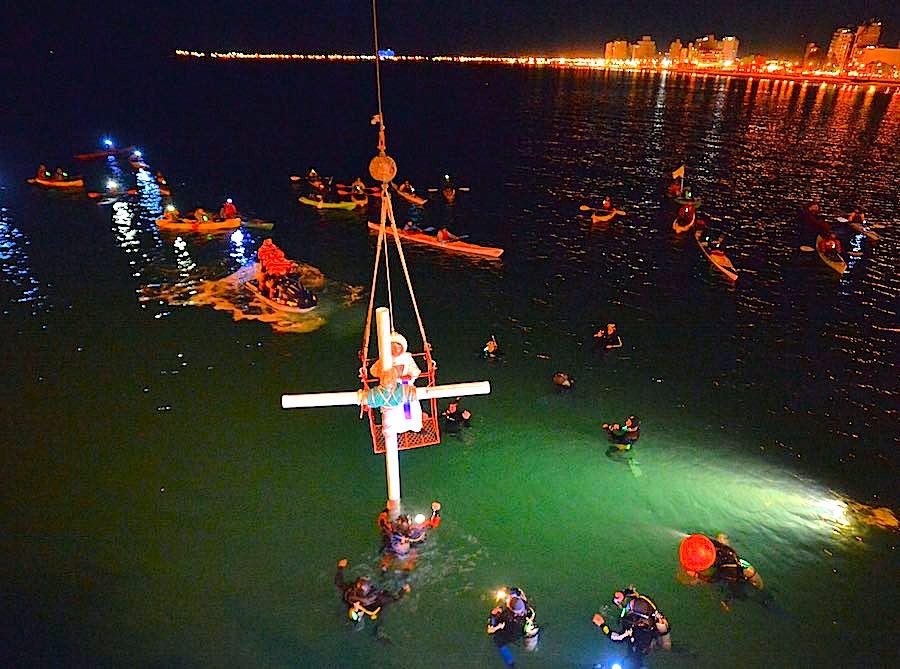 Vía crucis y buceo: la única procesión submarina del mundo
